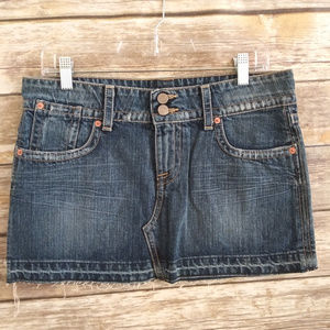 Hudson jeans denim mini skirt size 29